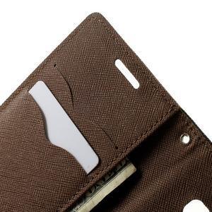 Diary PU kožené pouzdro na Samsung Galaxy A3 - černé/hnědé - 6