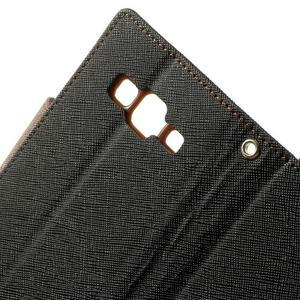 Fancy PU kožené pouzdro na Samsung Galaxy Core Prime - černé/hnědé - 6