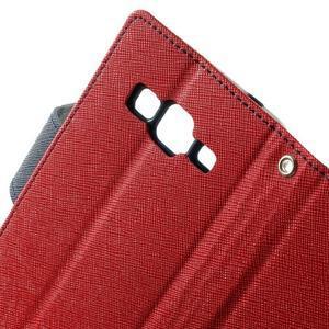 Fancy PU kožené pouzdro na Samsung Galaxy Core Prime - červené - 6