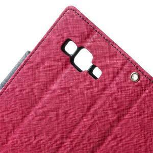 Fancy PU kožené pouzdro na Samsung Galaxy Core Prime - rose - 6