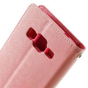 Fancy PU kožené pouzdro na Samsung Galaxy Core Prime - růžové - 6