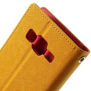Fancy PU kožené pouzdro na Samsung Galaxy Core Prime - žluté - 6