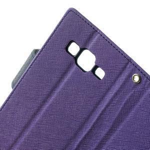 Fancy PU kožené pouzdro na Samsung Galaxy Core Prime - fialové - 6
