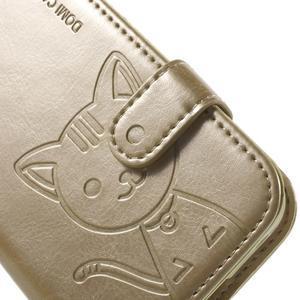 Kočička Domi pouzdro na Samsung Galaxy Core Prime - zlaté - 6