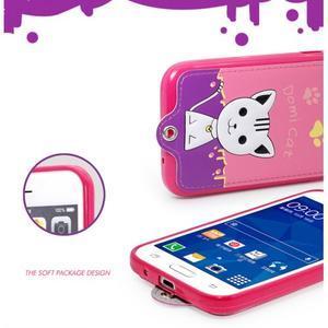 Kočička Domi obal na mobil Samsung Galaxy Core Prime - rose - 6