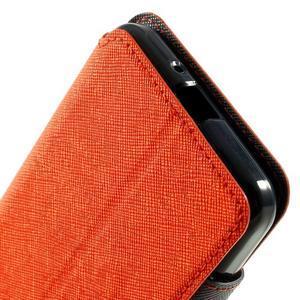 Safety pouzdro s okýnkem pro Samsung Galaxy Grand Prime - oranžové - 6