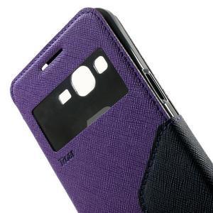 Safety pouzdro s okýnkem pro Samsung Galaxy Grand Prime - fialové - 6