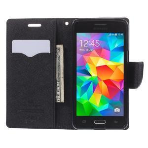 Diary PU kožené pouzdro na mobil Samsung Galaxy Grand Prime - černé - 6