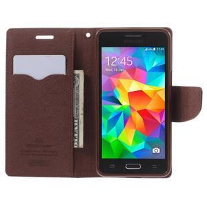 Diary PU kožené pouzdro na mobil Samsung Galaxy Grand Prime - čené/hnědé - 6