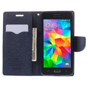 Diary PU kožené pouzdro na mobil Samsung Galaxy Grand Prime - červené - 6