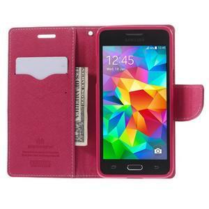 Diary PU kožené pouzdro na mobil Samsung Galaxy Grand Prime - růžové - 6
