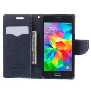 Diary PU kožené pouzdro na mobil Samsung Galaxy Grand Prime - cyan - 6