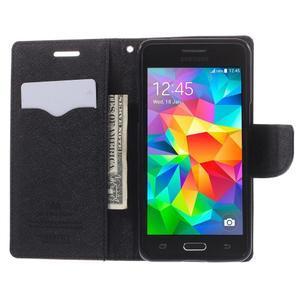 Diary PU kožené pouzdro na mobil Samsung Galaxy Grand Prime - hnědé - 6