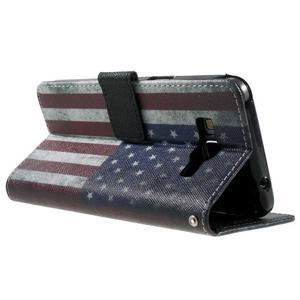 Wallet PU kožené pouzdro na mobil Samsung Galaxy Grand Prime - US vlajka - 6