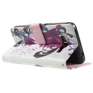 Wallet PU kožené pouzdro na mobil Samsung Galaxy Grand Prime - květy - 6
