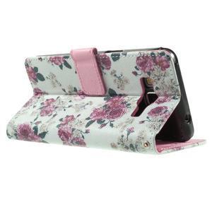 Wallet PU kožené pouzdro na mobil Samsung Galaxy Grand Prime - květiny - 6