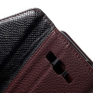 Writes elegantní pouzdro na Samsung Galaxy Grand Prime - hnědé - 6