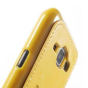 Obal s koženkovými zády a kočičkou Domi pro Samsung Galaxy J1 - žlutý - 6