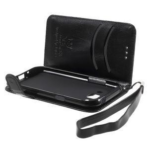 Koženkové pouzdro s kočičkou Domi na Samsung Galaxy J1 - černé - 6