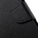Diary stylové peněženkové pouzdro na Samsung Galaxy J5 - černé - 6/7