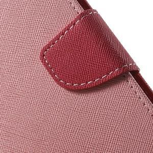 Diary stylové peněženkové pouzdro na Samsung Galaxy J5 - růžové - 6