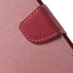 Diary stylové peněženkové pouzdro na Samsung Galaxy J5 - růžové - 6/7