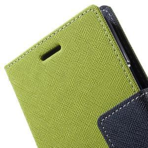 Diary stylové peněženkové pouzdro na Samsung Galaxy J5 - zelené - 6