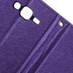 Diary stylové peněženkové pouzdro na Samsung Galaxy J5 - fialové - 6/7