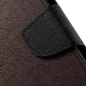 Diary stylové peněženkové pouzdro na Samsung Galaxy J5 - hnědé - 6
