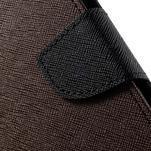 Diary stylové peněženkové pouzdro na Samsung Galaxy J5 - hnědé - 6/7