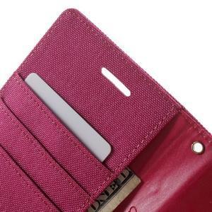Luxury textilní/pu kožené pouzdro na Samsung Galaxy J5 - rose - 6
