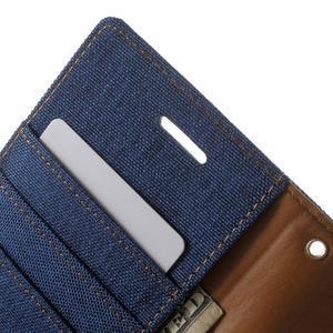 Luxury textilní/pu kožené pouzdro na Samsung Galaxy J5 - modré - 6