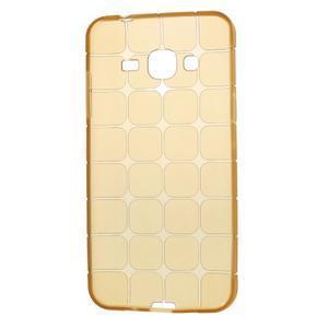 Square matný gelový obal na Samsung Galaxy J5 - champagne - 6