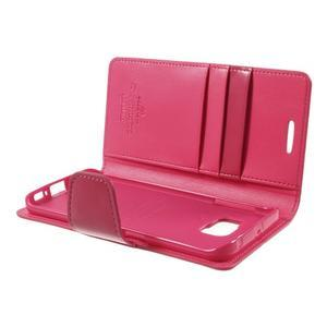 Wallet PU kožené pouzdro na Samsung Galaxy S6 Edge G925 - rose - 6