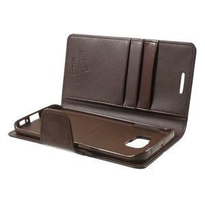 Wallet PU kožené pouzdro na Samsung Galaxy S6 Edge G925 - tmavěhnědé - 6