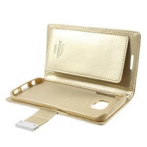 Wallet PU kožené pouzdro na Samsung Galaxy S6 Edge G925 - champagne - 6