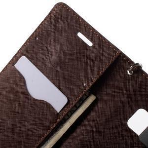 Diary PU kožené pouzdro na Samsung Galaxy S6 Edge - černé/hnědé - 6
