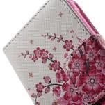 Vzorové peněženkové pouzdro na Samsung Galaxy Xcover 3 - kvetoucí větvička - 6/7