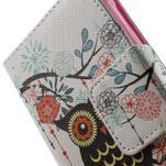 Vzorové peněženkové pouzdro na Samsung Galaxy Xcover 3 - sova - 6/7
