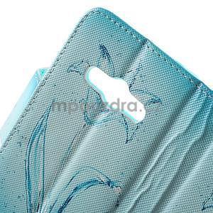 Vzorové peněženkové pouzdro na Samsung Galaxy Xcover 3 - vodní květ - 6