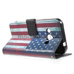 Stylové peněženkové pouzdro pro Samsung Galaxy Xcover 3 - US vlajka - 6