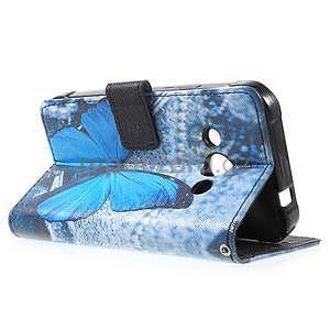 Stylové peněženkové pouzdro pro Samsung Galaxy Xcover 3 - modrý motýl - 6