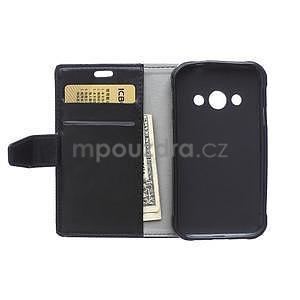 Černé koženkové pouzdro Samsung Galaxy Xcover 3 - 6