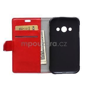 Červené koženkové pouzdro Samsung Galaxy Xcover 3 - 6