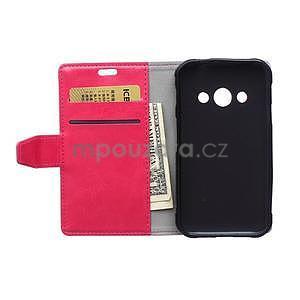 Rose koženkové pouzdro Samsung Galaxy Xcover 3 - 6