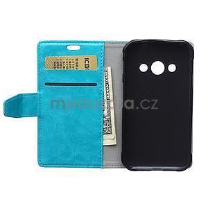 Modré koženkové pouzdro Samsung Galaxy Xcover 3 - 6