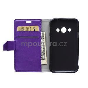 Fialové koženkové pouzdro Samsung Galaxy Xcover 3 - 6