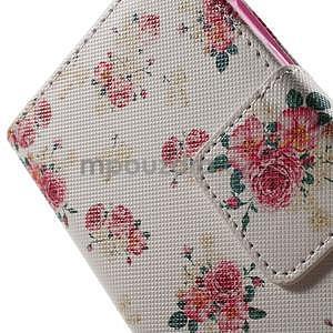 Vzorové peněženkové pouzdro na Samsung Galaxy Xcover 3 - květiny - 6