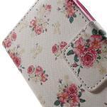 Vzorové peněženkové pouzdro na Samsung Galaxy Xcover 3 - květiny - 6/7