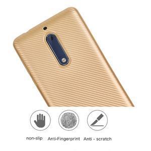 CarboSoft gelový obal na Nokia 5 - růžovozlatý - 6